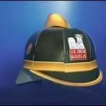Hasičská papírová helma