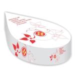 Kapesníčky v boxu ve tvaru kapky
