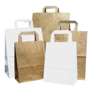 Papírová taška s plochými uchy