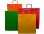 Barevné papírové tašky - s kroucenou rukojetí