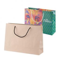 Papírová nákupní taška na zakázku s polypropylenovými uchy