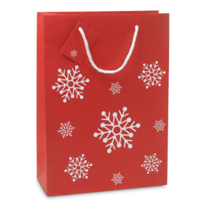 Papírové dárkové tašky s vánočním motivem