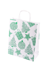 Barevné papírové tašky s kroucenou rukojetí