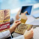 Papírová origami peněženka