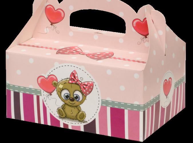 Papírové skládací krabice na zákusky a dorty