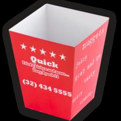 Krabička na popcorn s vlastním potiskem