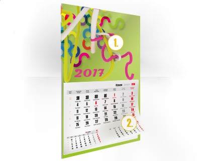 Kalendáře nástěnné jednodílné i trojdílné