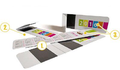 Kalendář - magnetická záložka do knihy