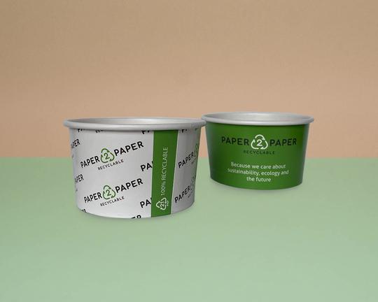 Papírové kelímky na zmrzlinu